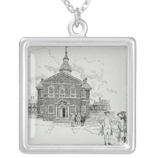 Carpenter's Hall Philadelphia Silver Plated Necklace