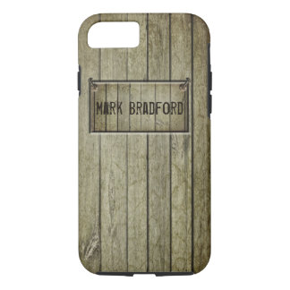 CARPENTER'S I-PHONE CASE 6/6s WOOD/NAILS/NAME