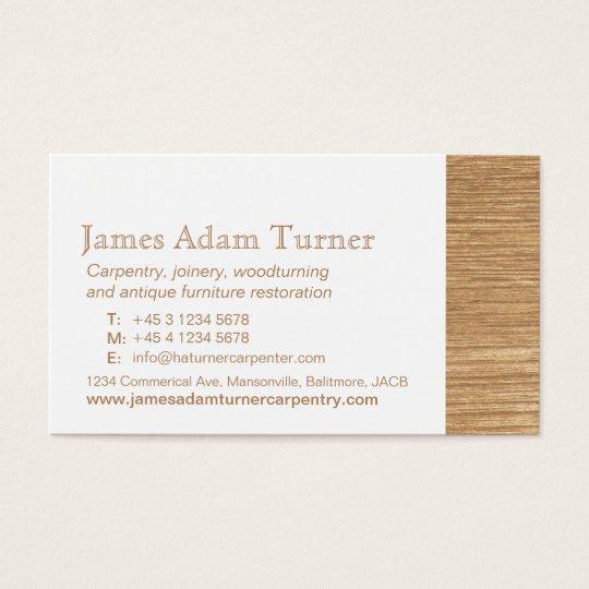 Carpentry carpenter wood business card