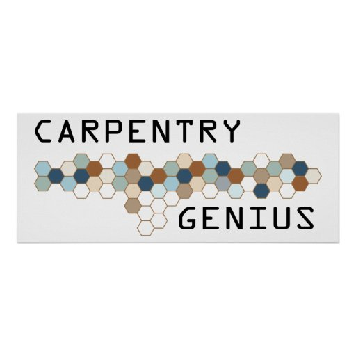 Carpentry Genius Poster