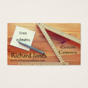Construction carpenter carpentry business cards business card carpentry wood working and kitchen fitter business card reheart Gallery