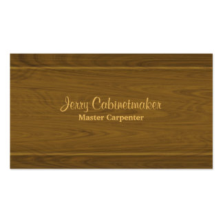 Carpentry wooden moulding pattern pack of standard business cards