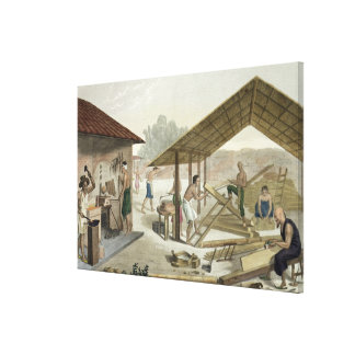 Carpentry Workshop in Kupang Timor plate 6 from Canvas Print