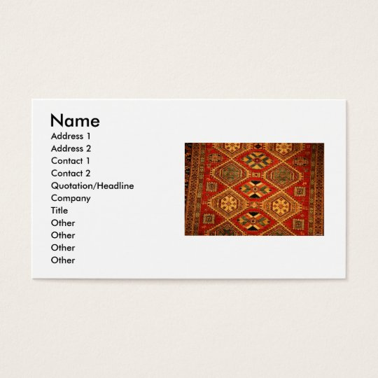 Carpet Business Card