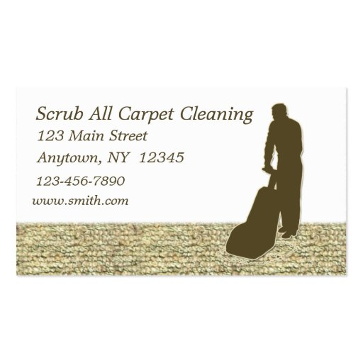 Create your own cleaner business cards page2 for Carpet cleaning business cards