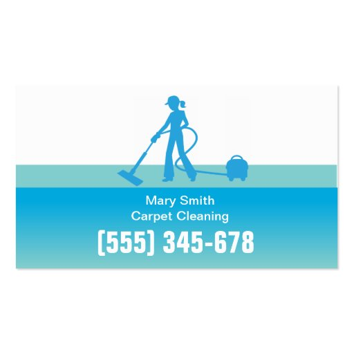 Carpet Cleaning Business Card Template Zazzle