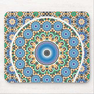 Carpet decorated in mosaic mouse mat