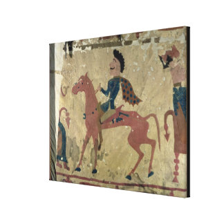 Carpet depicting a mounted warrior canvas print