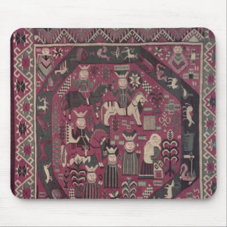 Carpet depicting knights mouse mat