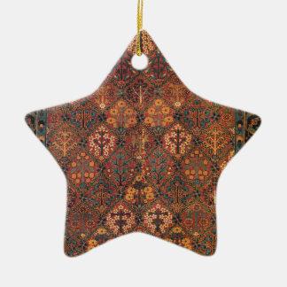 Carpet design christmas ornament
