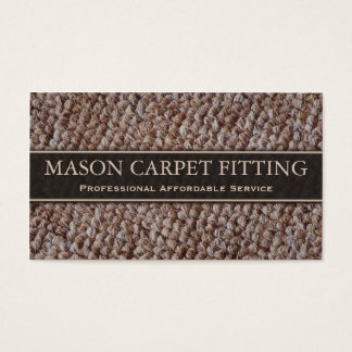 Carpet Fitter / Fitting Business Card