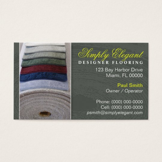 Carpet / Flooring Store Business Card