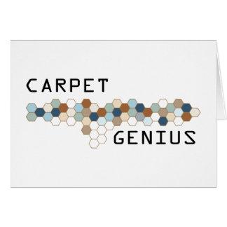 Carpet Genius Greeting Card