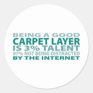 Carpet Layer 3% Talent Stickers