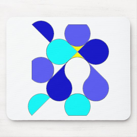 Carpet mouse reason geometrical blue and yellow mouse mat