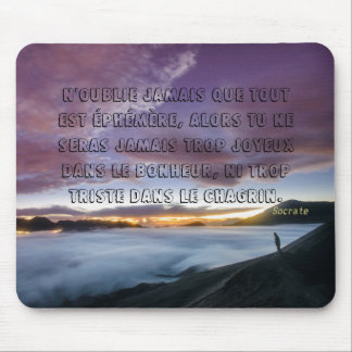 carpet-of-mouse Socrate quotation Mouse Pad