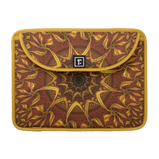 Carpet of the Sun Red and Gold Abstract Mandala Sleeve For MacBooks