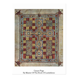 Carpet Page By Master Of The Book Of Lindisfarne Postcard