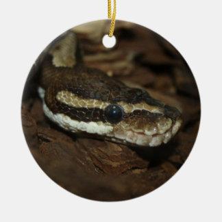 Carpet python christmas ornament