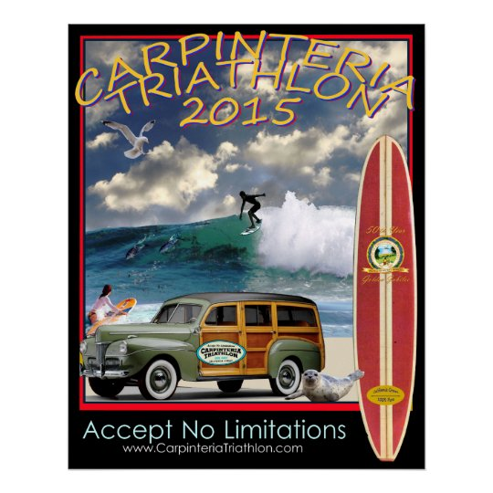 Carpinteria Triathlon 2015 Poster