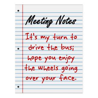 Carpooling is Encouraged Postcard