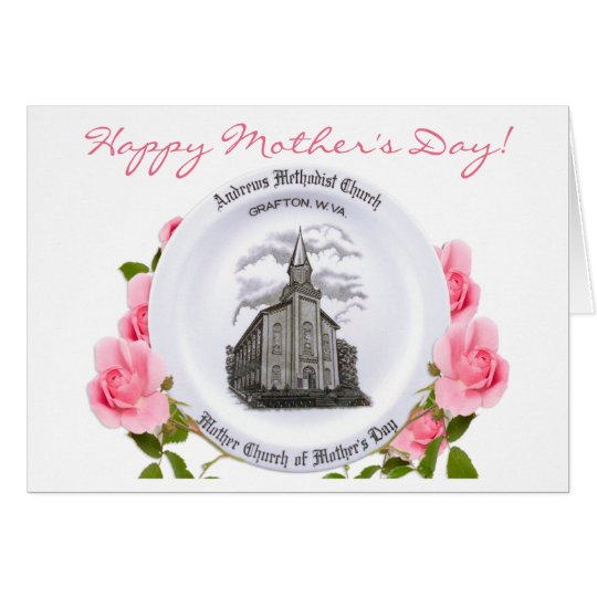 Carr China Mother's Day plate Card