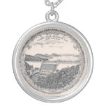 Carr China's Tygart Dam plate necklace