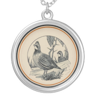 Carr China's WV State Parks Design: Quail Silver Plated Necklace
