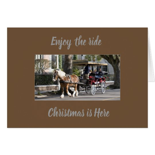 ****CARRAIGE RIDE**** CHRISTMAS GREETING CARD