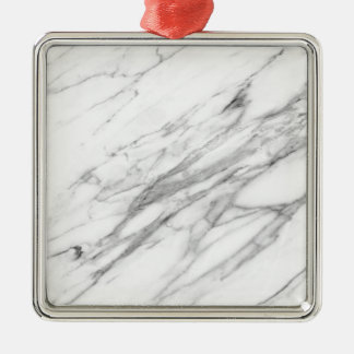 Carrara Marble Christmas Ornament