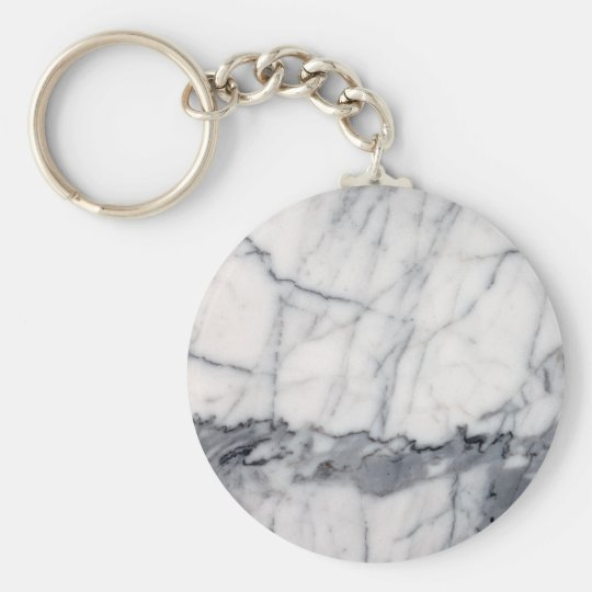 Carrara marble key ring