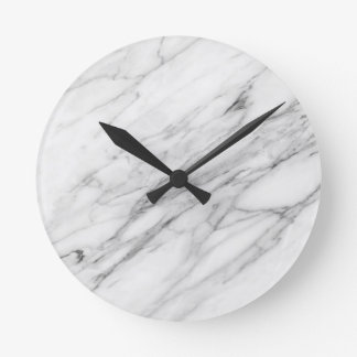 Carrara Marble Wall Clock