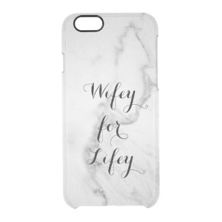 Carrara Marble Wifey for Lifey iPhone 6/6s Case