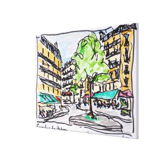 Carrefour de l'Odeon, Paris, France Canvas Print