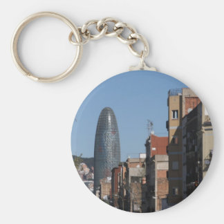 Carrer de Badajoz and Torre Agbar, Barcelona Key Ring
