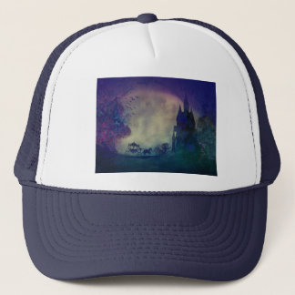 Carriage at sunset trucker hat