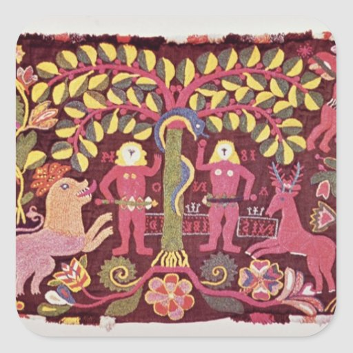 Carriage cushion cover depicting the Fall of Sticker