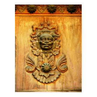 Carriage door, Antigua, Guatemala Postcard