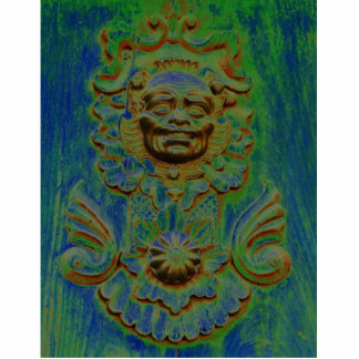 Carriage door, Antigua, Guatemala (Solarized) Photo Sculpture Decoration