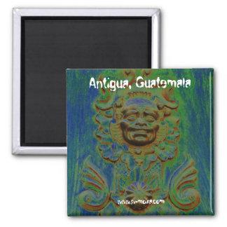 Carriage door, Antigua, Guatemala (Solarized) Square Magnet