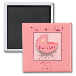 Carriage of Love Girl Magnet