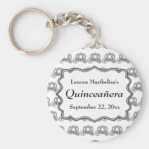 Carriage Pattern Quinceanera Key Chains