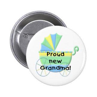 Carriage Proud New Grandma 6 Cm Round Badge