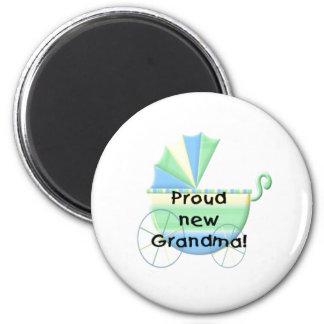 Carriage Proud New Grandma 6 Cm Round Magnet