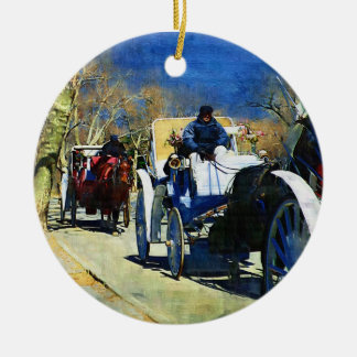 Carriage Ride Central Park Christmas Ornament