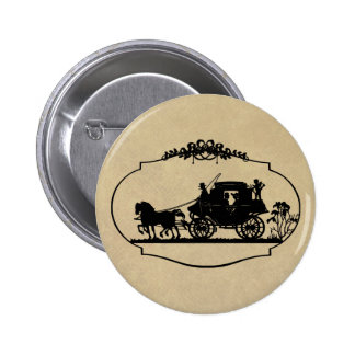 Carriage Ride With Cupid Apparel and Gifts 6 Cm Round Badge