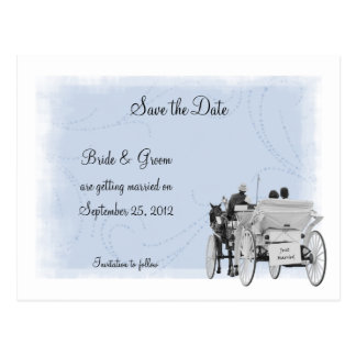 Carriage Save the Date Postcard