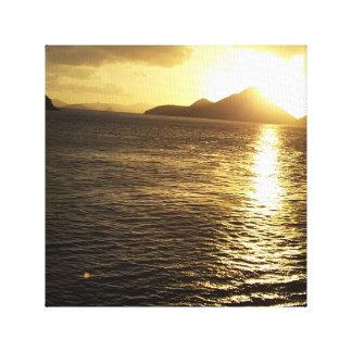 Carribean Island Sunrise Photo Canvas Print