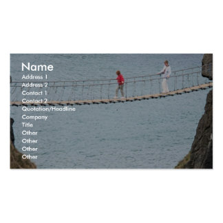 Carrick-A-Rede rope bridge, Ballintoy, Co. Antrim, Business Card Templates