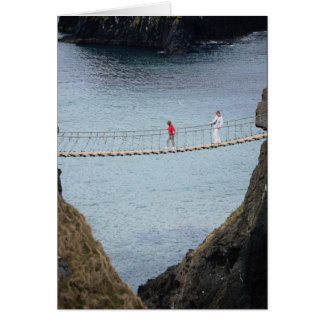 Carrick-A-Rede rope bridge, Ballintoy, Co. Antrim, Greeting Cards